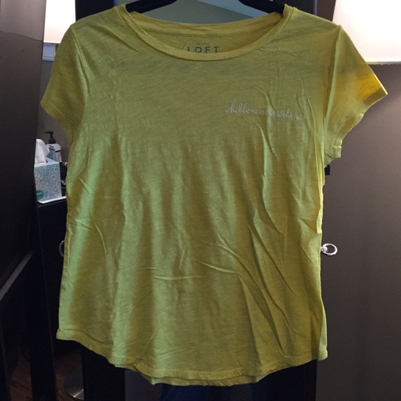 10930fa60 LOFT Tops | Embroidered Tshirt | Poshmark